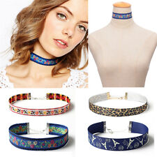 Women Collar Ethnic Lace Necklace Bohemian Flower Choker Embroidery Jewelry Gift