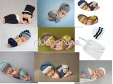 Newborn Baby Unisex Crochet Knit Photography Hat Outfit Set Infant Costume Photo