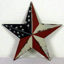 "JULY 4th American Flag BARN STAR Primitive Americana Metal Star 3.5"",5.5"",8"",12"""