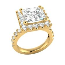 Princess Cut 3.35 ct D/VVS1 Wedding Engagement Ring Sizable Solid Gold Jewelry