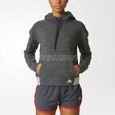 adidas Women Melange Pullover Hoodie Training Grey Light Weight S93953