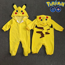 Pokemon Pikachu Baby Infant Boys Girls Cartoon Jumpsuit Romper Playsuit Outfits