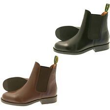 TUFFA POLO JODHPUR BOOTS BLACK OR BROWN HORSE PONY RIDING EQUINE ADULTS/CHILD