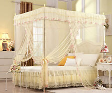 Yellow Princess Four Corner Post Bed Canopy Mosquito Netting Or Frame Post