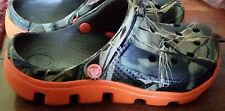 NEW Boy Crocs Realtree Max 4 Camo Orange Duet Sport 8/9 10/11 12/13 1 2 FREESHIP