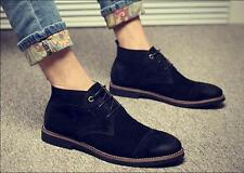 Mens oxford suede Lace Up chelsea ankle Boots Casual dress formal Shoes fashion