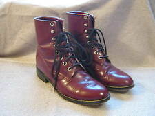 MENS WOMENS KIDS JUSTIN  LEATHER LACE UP COWBOY WESTERN BOOTS SIZE 5 D WIDTH