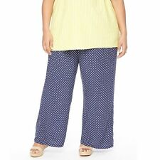 Maternity Oh Baby by Motherhood Secret Fit Belly Navy Print Pant NWT $58 1X 2X