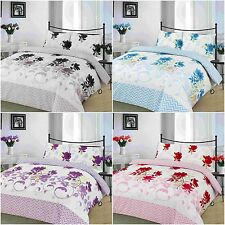 NEW BETHANY FLORAL DUVET QUILT COVER BEDDING SET SINGLE DOUBLE KING SUPERKING