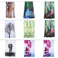2Sizes Shower Curtain Waterproof Polyester Fabric Home Bathroom With 12Hooks Hot
