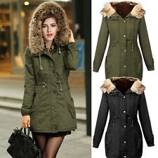 New Women Thicken Warm Winter Coat Hooded Parka Overcoat LONG Jacket Outwear HOT