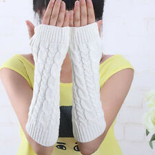 New Women Men's Gloves Arm Warmer Long Fingerless knit Mitten Winter Gloves Pair