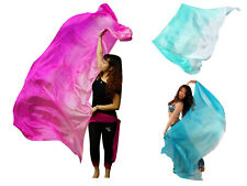 """1pc 2.7m*1.1m(3yd*45"""") light weight 5 momme fading colors belly dance silk veils"""