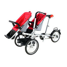 Bike Mother Baby Stroller 3 in 1 Folding Carrier twin Pushchair-Bicycle two seat