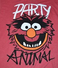 The Muppets PARTY ANIMAL Adult T-Shirt Graphic Tee Officially Licensed Disney