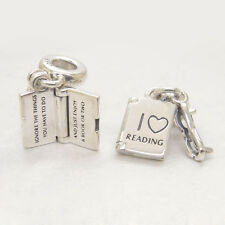 Authentic S925 Sterling Silver Love Reading Dangle Christmas gift CHARM Bead
