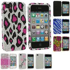 Bling Rhinestone Diamond Color Hard Case Cover Accessory for iPhone 4S 4G 4
