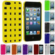 For Apple iPhone 5 5G 5S Color Basket Weave Hard Rubberized Case Skin Cover