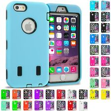 For Apple iPhone 6S (4.7) Hybrid Armor Case Cover With Built in Screen Protector