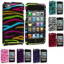 For iPod Touch 4th Gen 4G 4 Color Zebra Design Hard Snap-On Case Cover Accessory