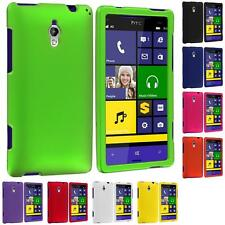 Color Hard Snap-On Rubberized Case Cover Accessory For HTC Windows Phone 8XT