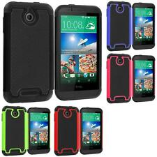 For HTC Desire 510 Hybrid Shockproof Armor Rugged Hard Case Cover Accessory