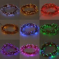 20-200LED Solar / Battery Powered Outdoor Xmas LED Fairy Lights String Party E5