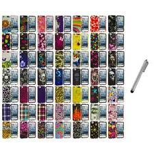 Design Hard Snap-On Rubberized Case Cover+Metal Pen for iPod Touch 5th Gen 5G