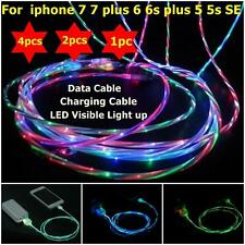 4X Visible LED USB Data Sync Charger Charging Cable Line Cord for iPhone 7/6Plus
