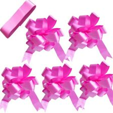 Cerise Wedding Car Decoration Kit & 1, 3, or 5 Large Bows and 7 Metres of Ribbon