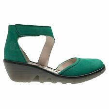 Fly London Piat Cupid Wedge Green Womens Shoes