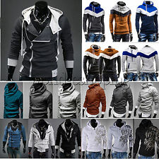 Mens Long Sleeve Hoodie Coat Jacket Casual Pullover Sweatshirt Shirt Top Outwear