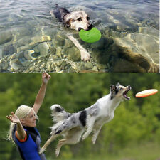 SOFT LIGHT FLYING DISC PET DOG PUPPY BEACH FRISBEE FETCH THROW EXERCISE TOY