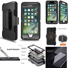 Defender case Cover for iPhone 7 Plus w/ Tempered Glass (Clip Fits Otterbox)