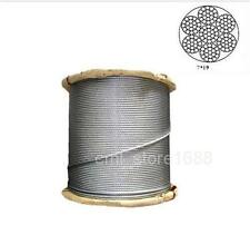 "304 Stainless Steel Cable Wire Rope 3/32""  5/32""  1/4"" 5/16""  7X19"