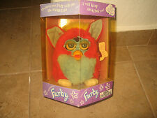 "Amazing rare  ""Electronic Furby,  red – blue body with blue eyes"" made by Hasbro"