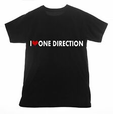 One Direction t shirt I love Clothing Tee T-shirt Heart Printed Screen pop band