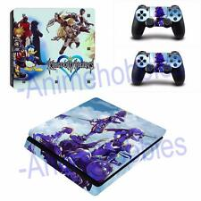 PS4 Slim Console Skin Decal Kingdom Hearts Anime Vinyl Sticker 2 Controllers