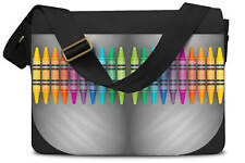 Rainbow Crayons Messenger Bag - Laptop School Shoulder Bag