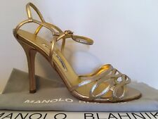 NIB New MANOLO BLAHNIK BLAZY Sandal Shoes Manolo size 37-40.5 (US 6.5-10) $800