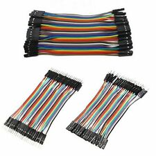 40 Pcs Dupont Jumper Wire M-M / M-F / F-F Cable Pi Pic Breadboard For Arduino SD