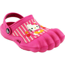 Hello Kitty Kids Hot Pink Silly Feet Clogs Shoes 01973 5/6 7/8 9/10