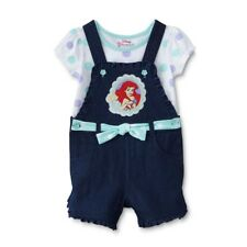 Disney The Little Mermaid Ariel Girls Tee and Shortall Set 4YP7241 2T 3T 4T