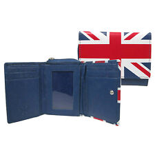 Real Leather Union Jack Wallet Credit Card Holder With All Round Zip 0119