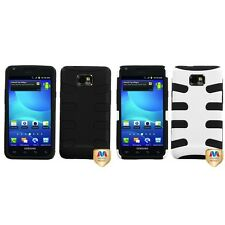 For Samsung Galaxy S2 i9100 Hybrid IMPACT Hard Soft Rugged Armor Case Cover