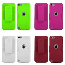 For Apple iPod Touch 5th 6th Gen Hard Matte Holster Belt Clip 2-Piece Case Cover