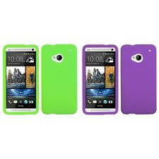 For HTC One M7 Silicone Skin Rubber Soft Case Phone Cover