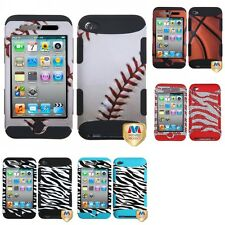 For Apple iPod Touch 4th Gen Hybrid TUFF IMPACT Phone Case Hard Rugged Cover
