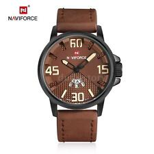 NAVIFORCE Men Date Japan Movt 30m Waterproof Quartz Sports Leather Watch H8Q0