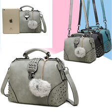 Vintage Women's casual faux Scrub Leather Satchel Shoulderbag Handbag Tote bags